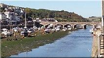 SX2553 : Looe Bridge and River by Nigel Wassell