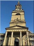 NZ2564 : The portico, tower and spire of All Saints Church, Pilgrim Street by Mike Quinn