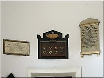 NZ2564 : Wall monuments in the portico of All Saints' Church by Mike Quinn