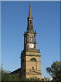 NZ2564 : The tower and spire of All Saints Church, Pilgrim Street by Mike Quinn