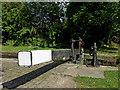 SJ9688 : Balance beam at Marple Locks No 15, Stockport by Roger  Kidd