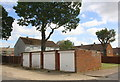 SP8687 : Block of 4 garages on NE side of Brighton Road by Phil Richards
