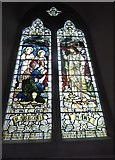TL8530 : St Andrew, Colne Engaine: stained glass window (b) by Basher Eyre