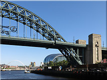 NZ2563 : The Tyne Bridge, The Sage and the Millennium Bridge by Mike Quinn