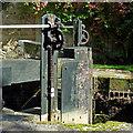SJ9688 : Lock tailgates in the Marple flight, Stockport by Roger  Kidd