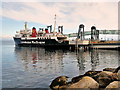 NS0235 : CalMac Ferry MV Isle of Arran at Brodick Ferry Terminal by David Dixon
