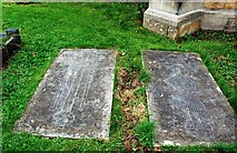 SE5947 : Graveslabs at St Andrew's Church by Mary and Angus Hogg