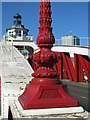 NZ2563 : Lamppost on the Swing Bridge (detail) by Mike Quinn