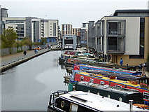 NT2472 : Union Canal between Viewforth Bridge and Leamington Lift Bridge by Robin Webster