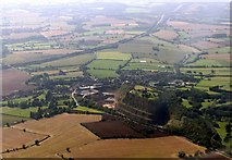 SK4023 : Breedon on the Hill from the air by Alan Murray-Rust