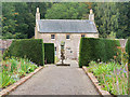 NS2309 : Culzean Castle Walled Garden, Ornamental Sundial and Garden's House by David Dixon