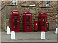 NH7656 : Fort George, K6 telephone kiosks by Alan Murray-Rust