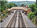 SP0532 : GWSR, Footbridge at Toddington Station by David Dixon