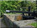 SJ9689 : Balance beam at Marple Locks No 5, Stockport by Roger  Kidd