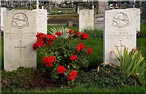 TQ2673 : Wandsworth : Commonwealth War Graves Commission site by Jim Osley