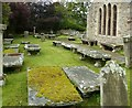 NJ5066 : Cullen Old Church – table tombs by Alan Murray-Rust
