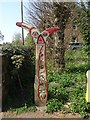 NX9776 : Millennium milepost, Dumfries Station by Richard Webb