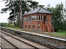 SP0838 : GWSR Signal Box at Broadway Station by David Dixon