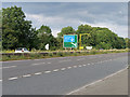 SO8820 : A40 near to Gloucestershire Airport by David Dixon