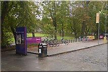 NT2572 : Bike dock, George Square by Richard Webb