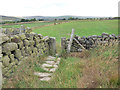 SD9425 : Stile near Lower Ashes Farm by Stephen Craven