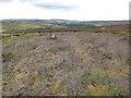 SD9526 : Burnt heather on Staups Moor by Stephen Craven