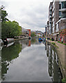 TQ2983 : On Regent's Canal towpath by John Sutton