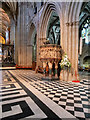 SO8454 : The Nave Pulpit, Worcester Cathedral by David Dixon