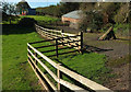 SX9575 : Fence and gate by coast path by Derek Harper
