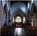 SJ7038 : Church of St Chad - Nave and Chancel Arch by Bob Harvey