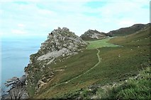 SS7049 : The Valley of Rocks by Peter Jeffery