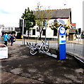ST1681 : Bicycle hire station on a Rhiwbina corner, Cardiff by Jaggery