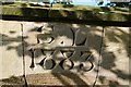 SJ2926 : Sweeney Hall: datestone over garden gate by Bob Harvey