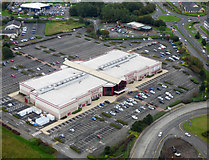 NS4564 : Showcase Cinema Linwood from the air by Thomas Nugent