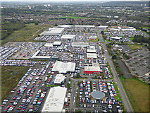 NS4564 : The Phoenix Retail Park from the air by Thomas Nugent