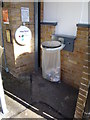 TL7818 : Litter Bin at White Notley Railway Station by Adrian Cable