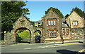 NX9717 : Park Lodge and entrance arch from Back Corkickle opposite Coach Road by Roger Templeman