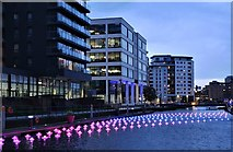 SE3032 : View of Aether & Hemera's 'Voyage' - a flotilla installation at Leeds Dock by J W