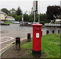 ST1480 : Queen Elizabeth II pillarbox in Hollybush Estate, Cardiff by Jaggery