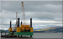 NS2876 : Jack-up barge Commander at Greenock by Thomas Nugent