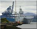 NS2776 : French warship Tonnerre (L9014) at Greenock Ocean Terminal by Thomas Nugent