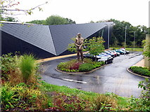 TQ0683 : Statue of Sir Keith Park, Visitor Centre, Battle of Britain Bunker, Uxbridge by Andrew Curtis