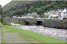 SS7249 : Lynmouth: the confluence of the East & West Lyn Rivers by Martin Tester