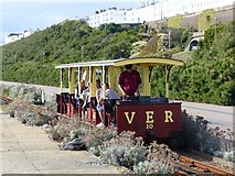 TQ3303 : The Volks electric Railway train approaches Black Rock Station, Brighton by Ruth Sharville