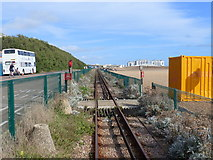 TQ3203 : Pedestrian crossing, Volks Electric Railway, Brighton by Ruth Sharville