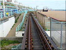 TQ3103 : Approaching Aquarium station, Volks Electric Railway, Brighton by Ruth Sharville