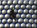 SP0786 : A workman on the Selfridges building by Philip Halling