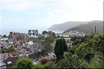 SS7249 : Castle Hill from Station Hill, Lynton by Martin Tester