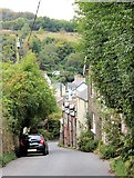 SS6644 : Looking down Parracombe Lane towards the village by Martin Tester