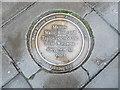 TQ1980 : Pavement Plaque in Acton High Street by David Hillas
